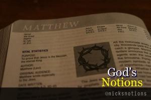 God's Notions